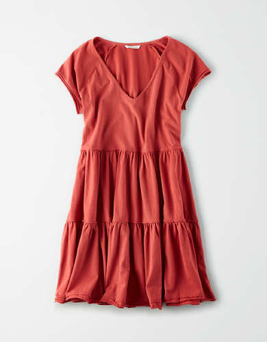 AE V-Neck Babydoll Dress