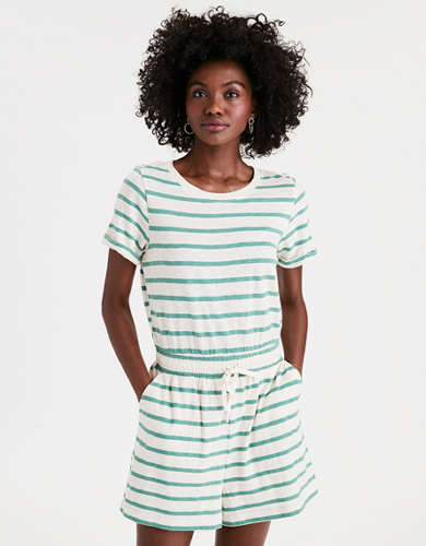 AE Striped Crew Neck Romper