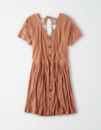 AE Button Front Babydoll Dress
