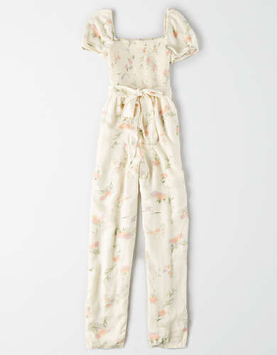 AE Smocked Tapered Leg Jumpsuit