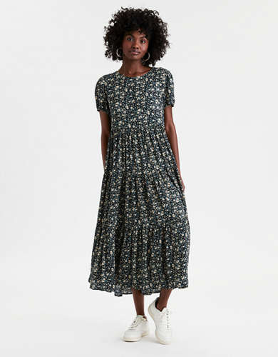 AE Tiered Midi Dress