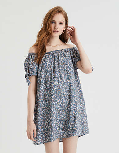 AE Off-The-Shoulder Shift Dress
