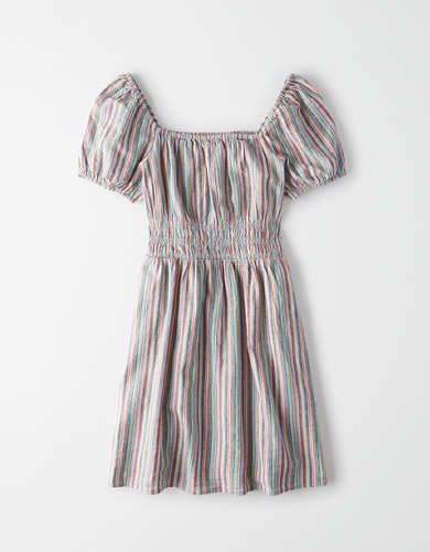 AE Striped Smocked Mini Dress