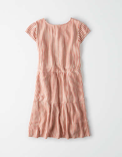 AE Striped Button Up Babydoll Dress