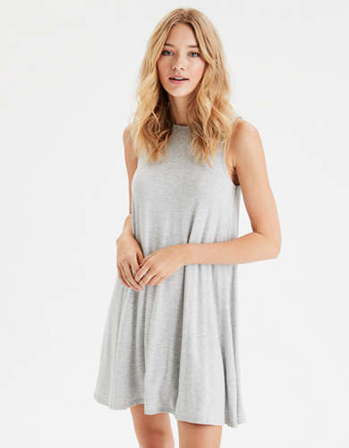 AE High Neck Shift Dress