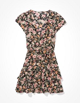 AE Ruffled Wrap Mini Dress