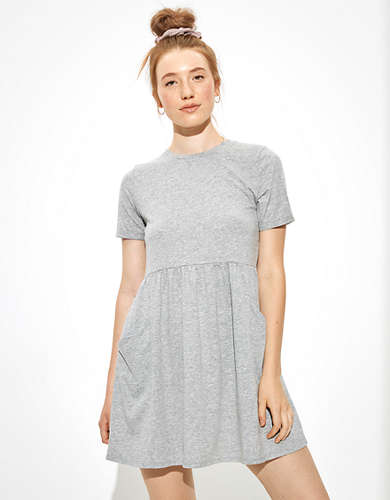 AE Crew Neck Babydoll Dress