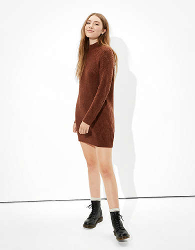 AE Mock Neck Shift Dress