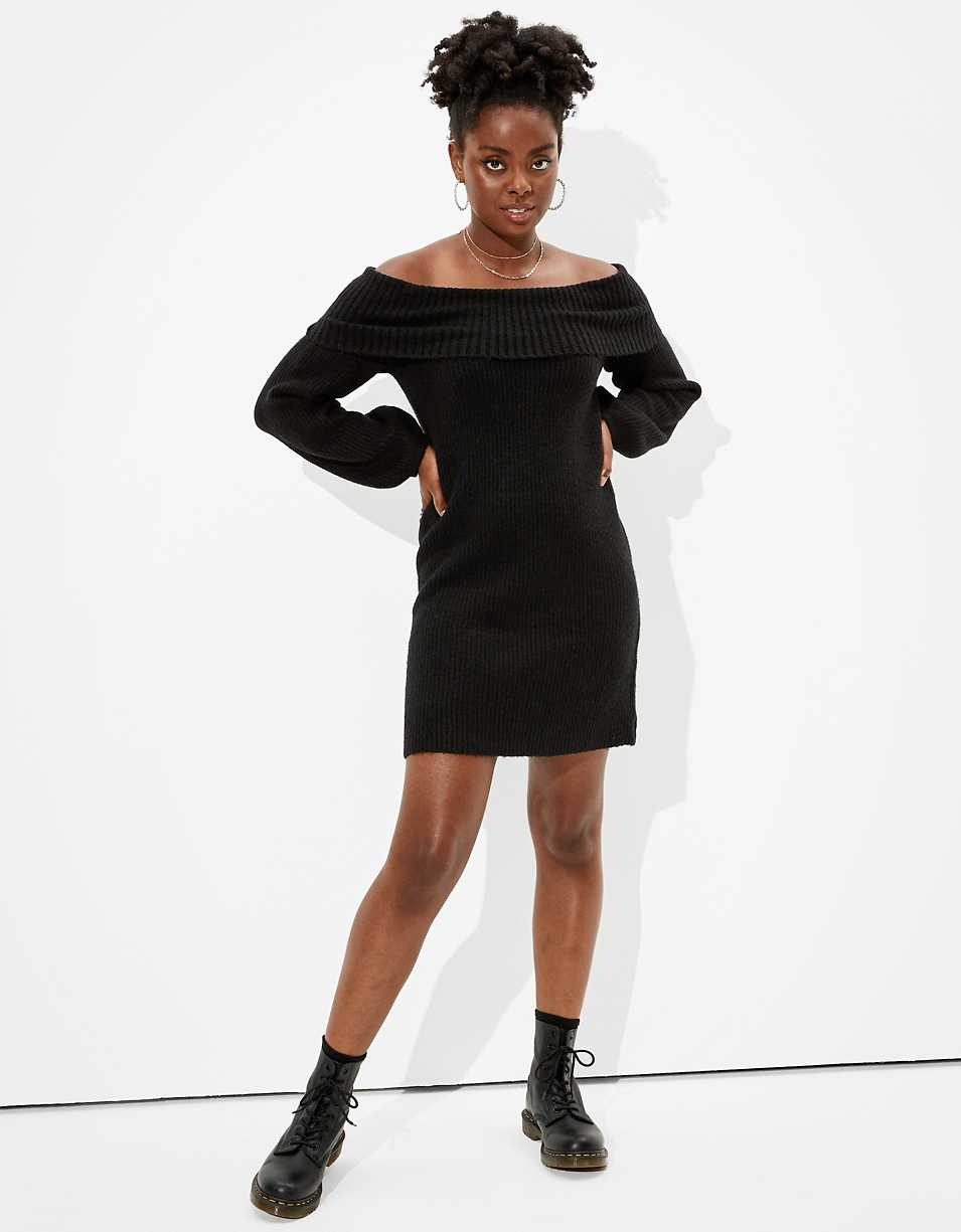 AE Off-The-Shoulder Sweater Dress