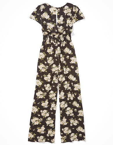 AE Flutter Sleeve Tie Front Jumpsuit