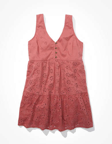 AE Tie Back Tiered Babydoll Dress
