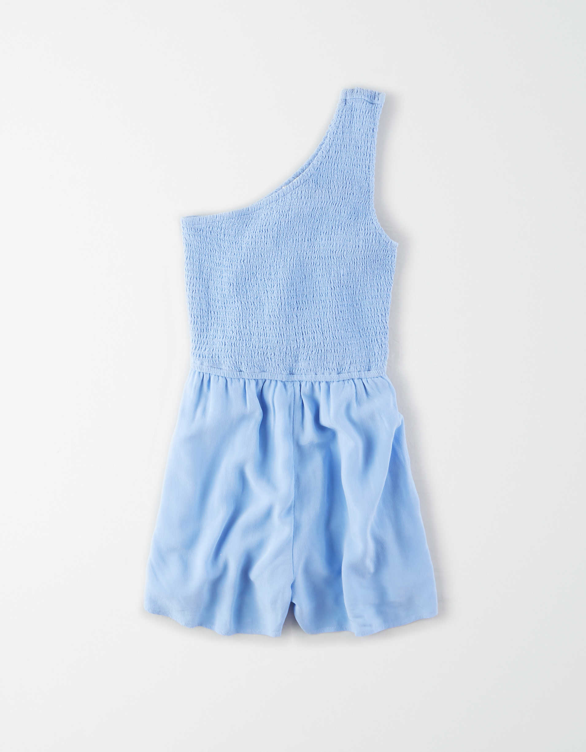 AE Smocked One Shoulder Romper