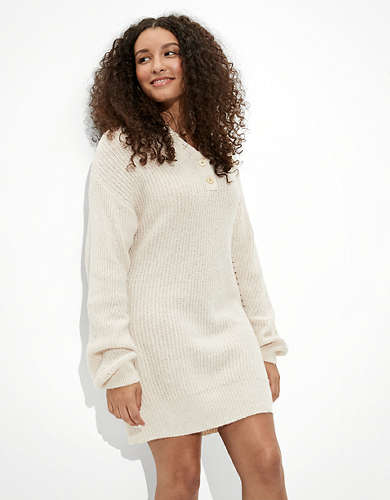 AE Henley Sweater Dress