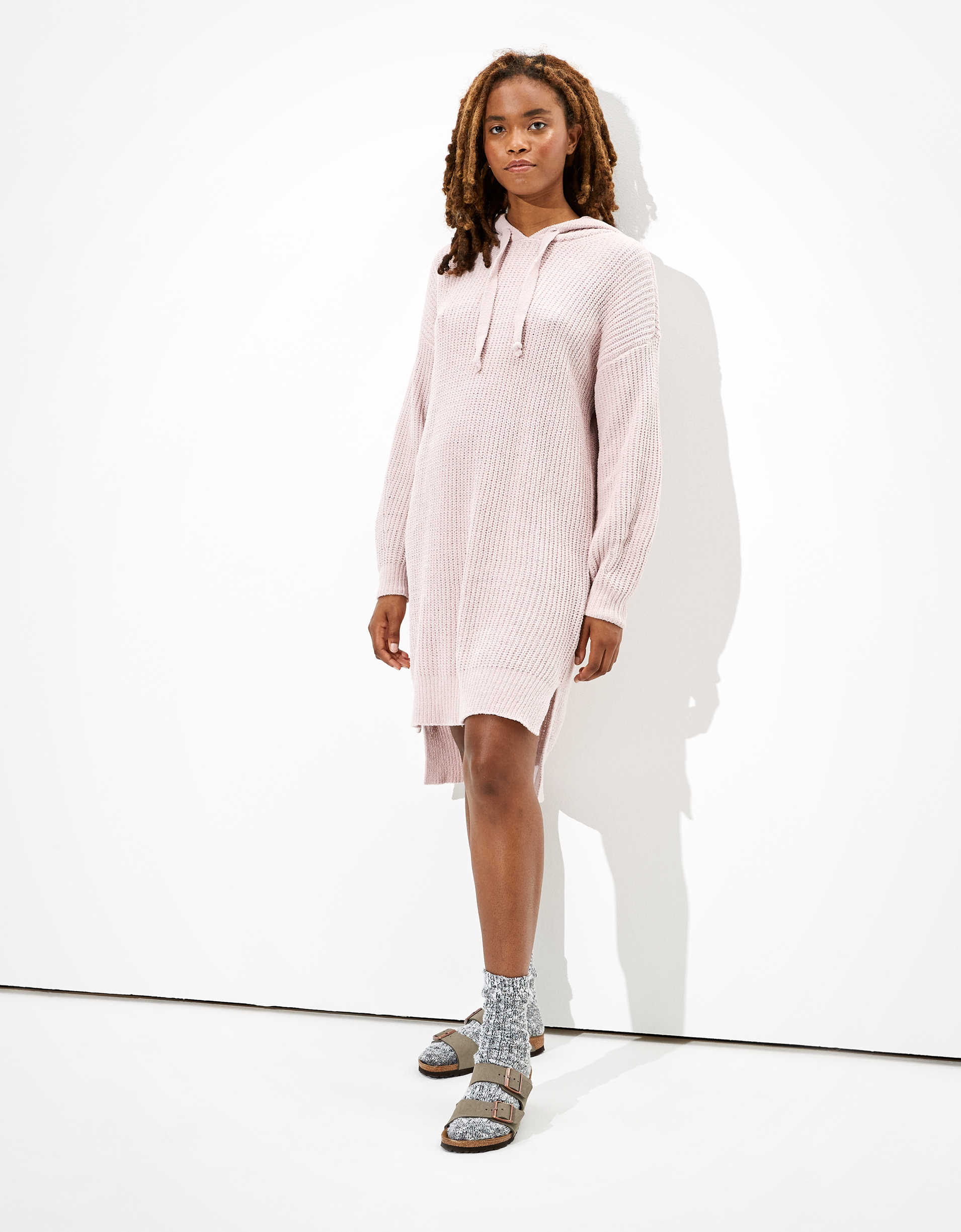 AE Hooded Sweater Dress