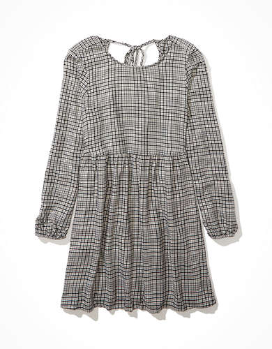 AE Plaid Babydoll Dress