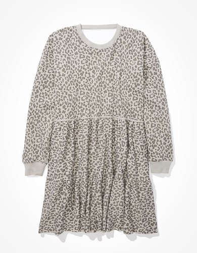 AE Fleece Tiered Babydoll Dress