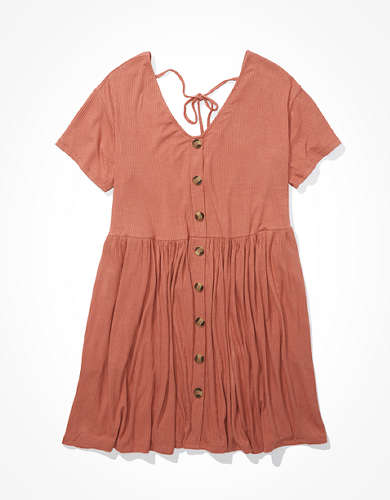 AE Button Up Babydoll Dress