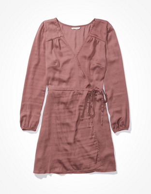 AE Silky Wrap Mini Dress
