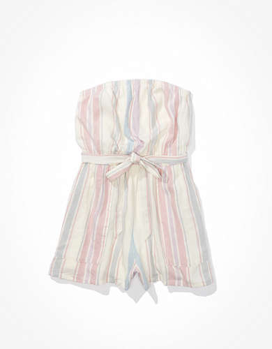 AE Striped Tube Romper