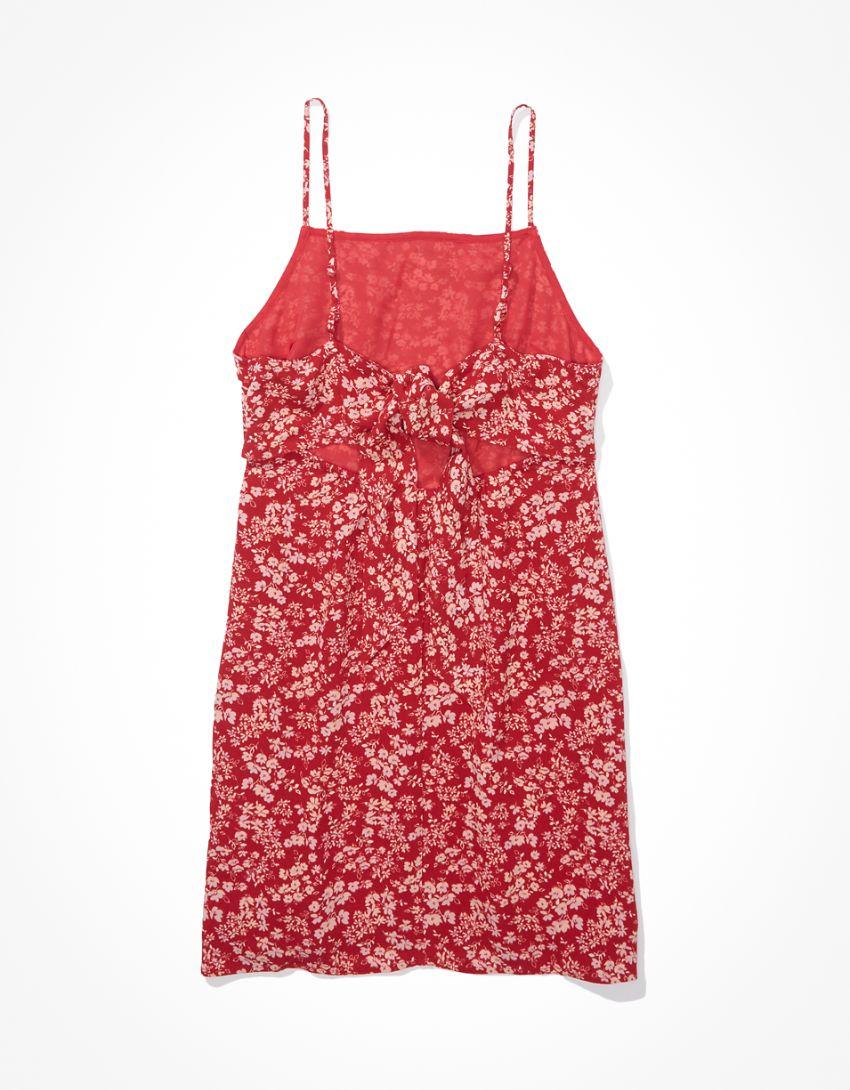 AE Floral Tie-Back Mini Dress