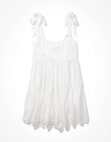 AE Solid Tie-Strap Babydoll Dress