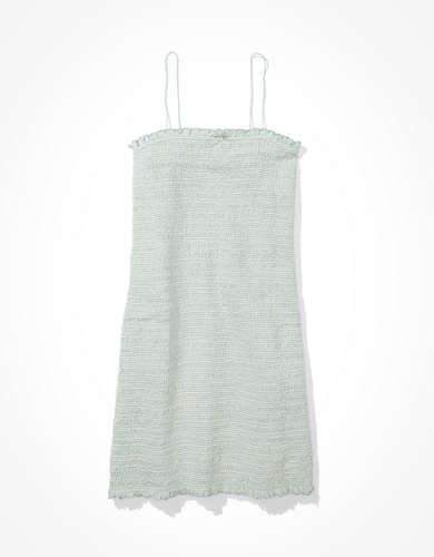 AE Smocked Bungee Strap Mini Dress
