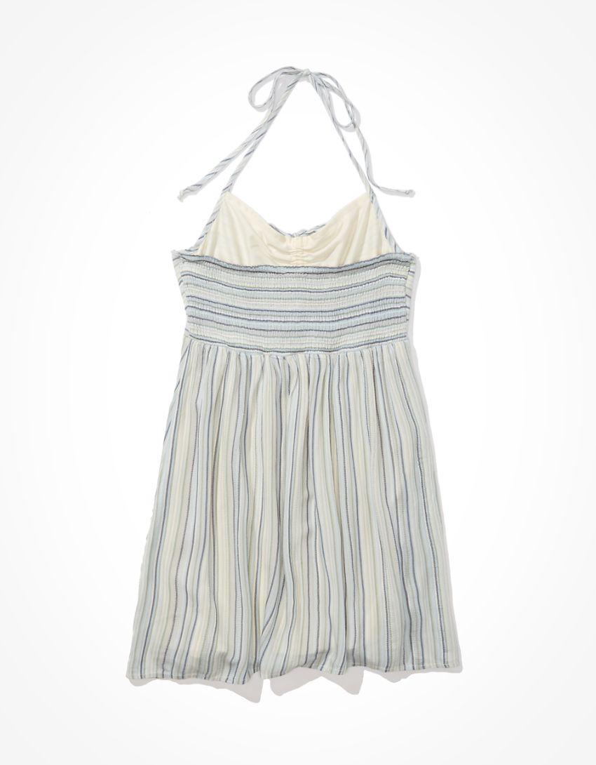 AE Striped Halter Mini Slip Dress