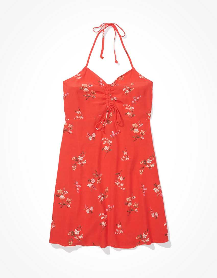 AE Floral Halter Mini Dress