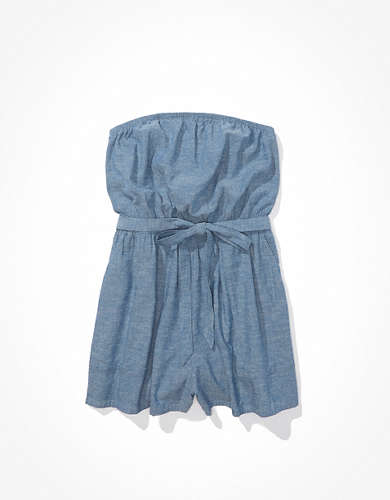AE Chambray Tube Romper
