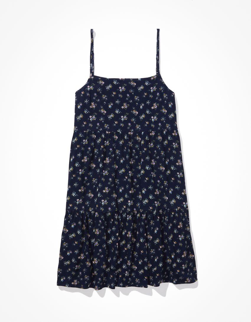 AE Square-Neck Babydoll Mini Dress
