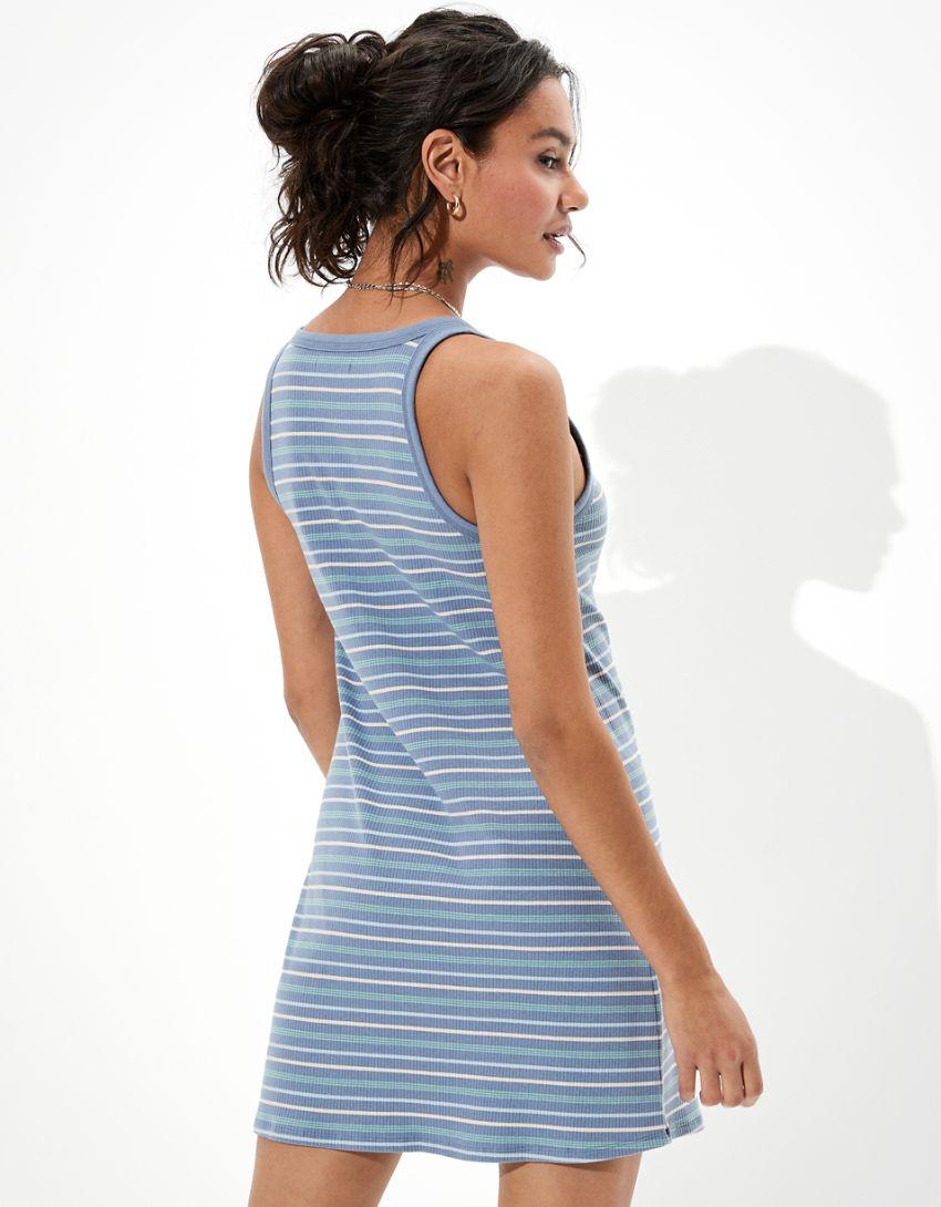 AE Striped Scoop Neck Bodycon Mini Dress