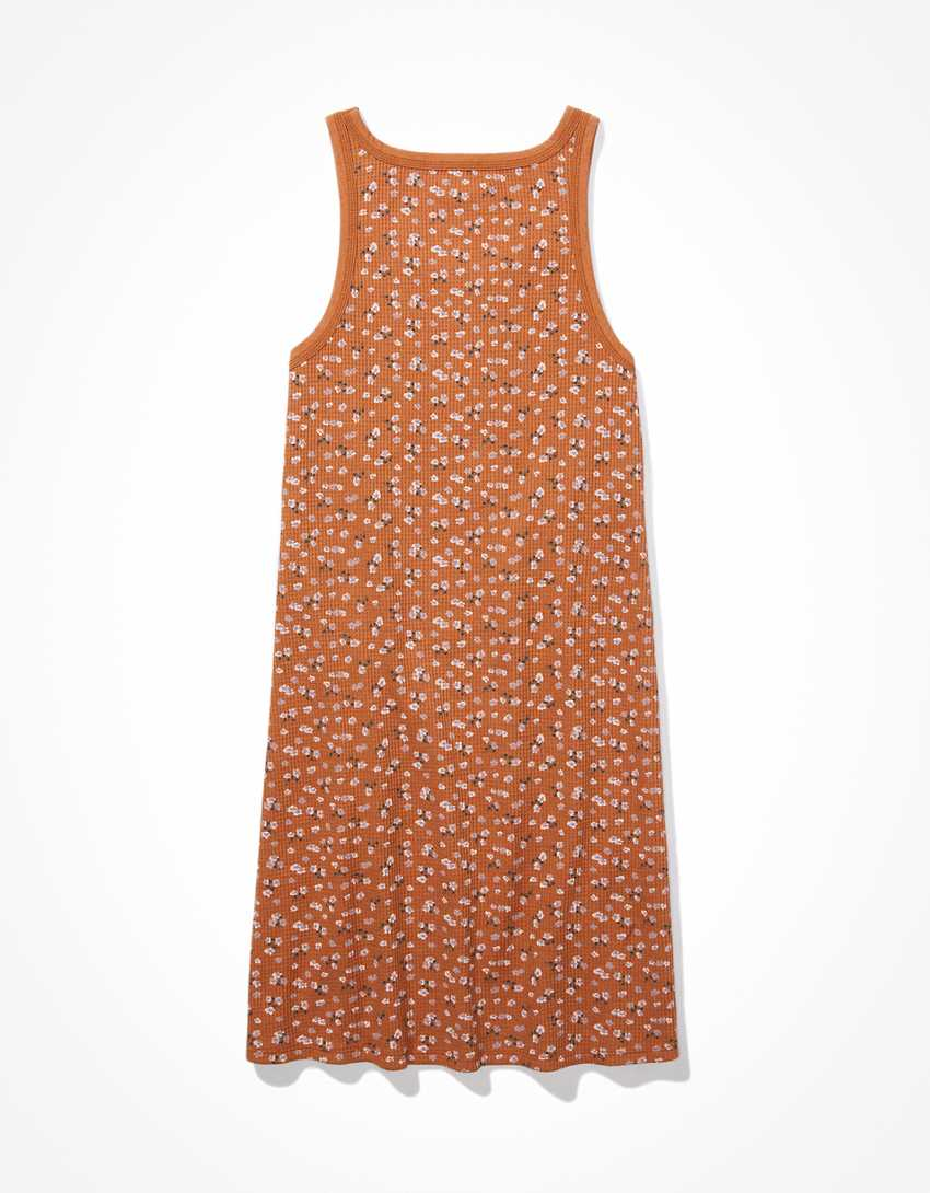 AE Waffle Scoop Neck Bodycon Mini Dress