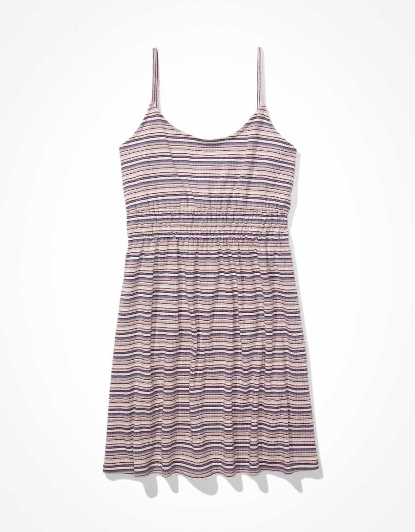 AE Striped Fit & Flare Mini Dress