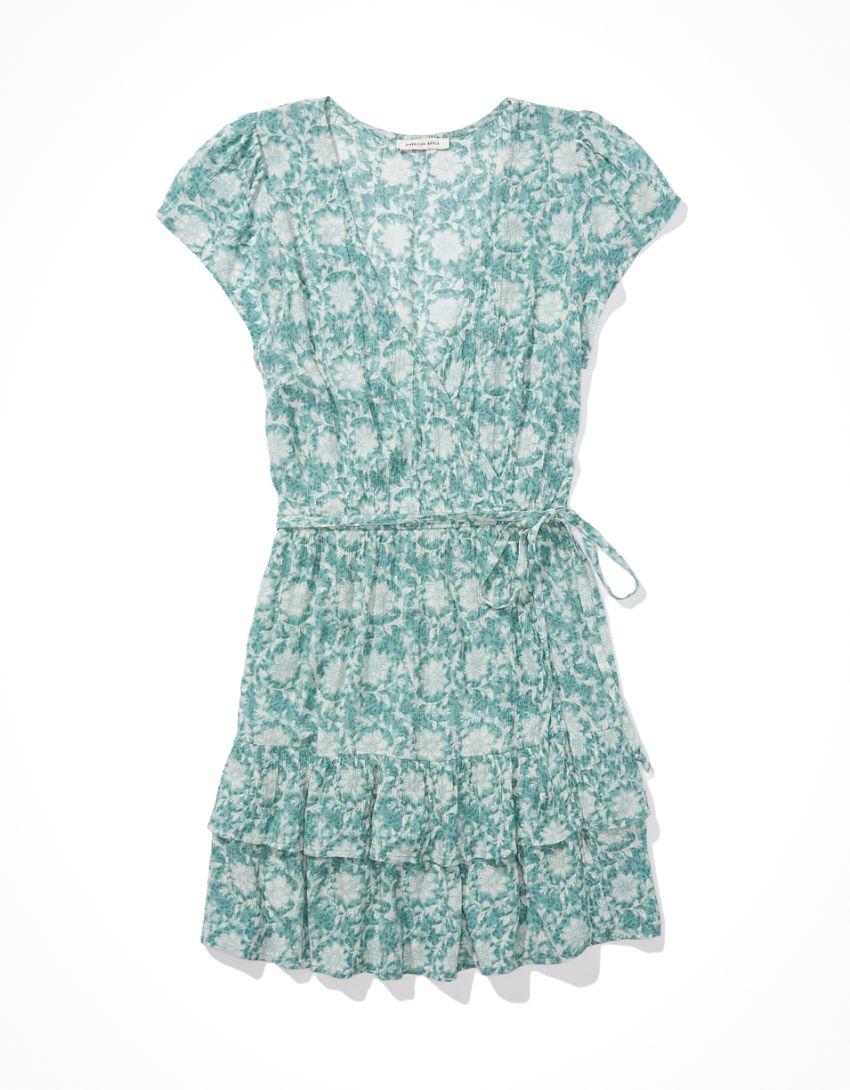 AE Ruffle Wrap Mini Dress