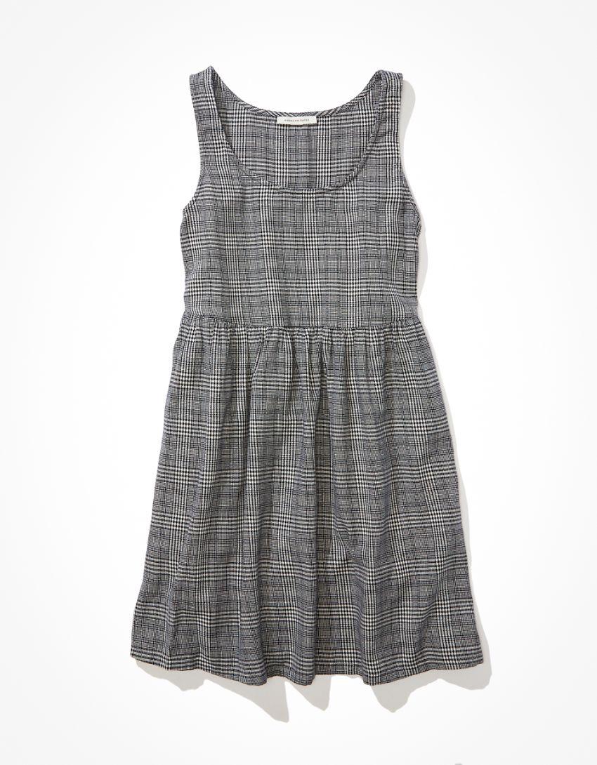 AE Plaid Babydoll Mini Dress