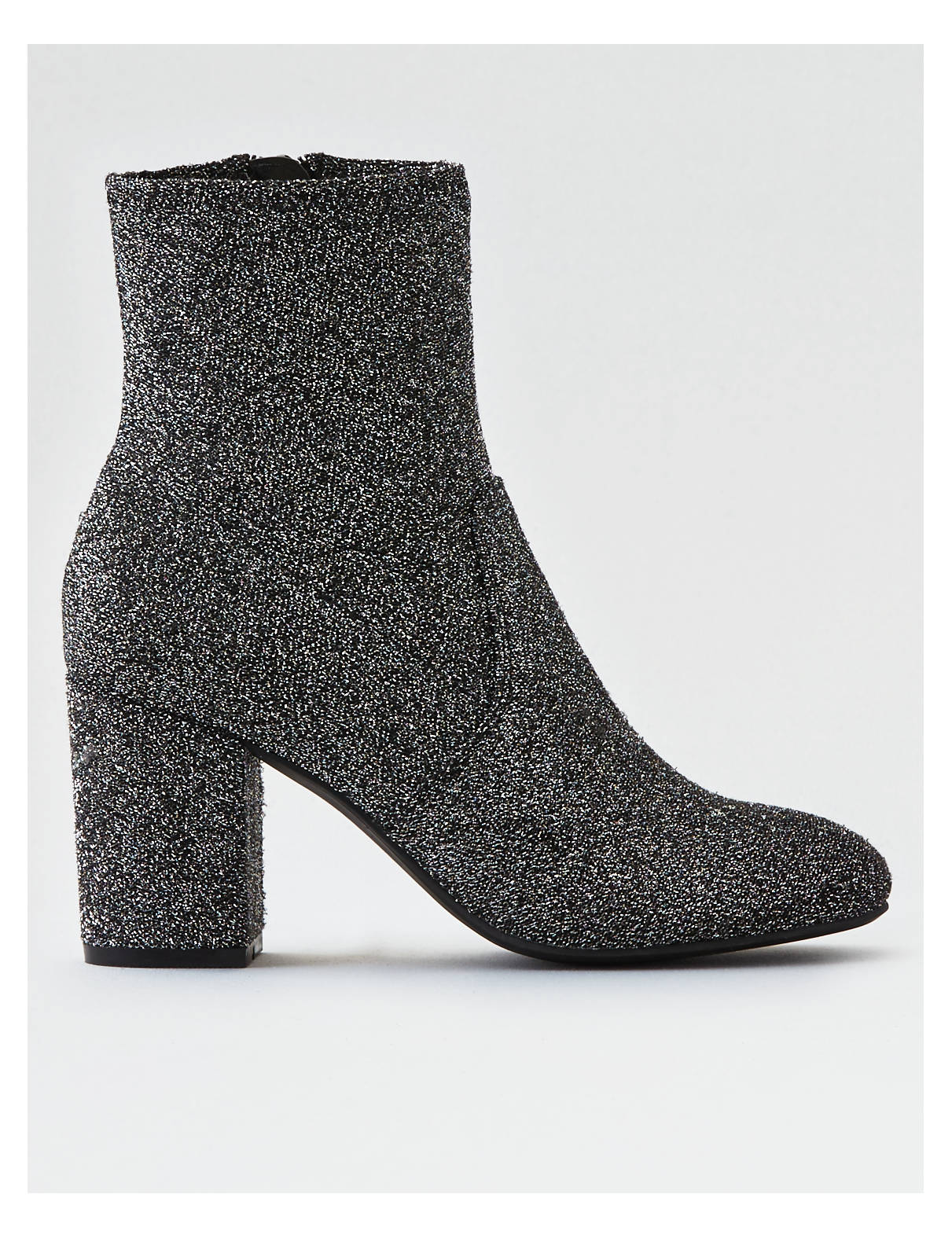 Display product reviews for AEO Heeled Sock Bootie