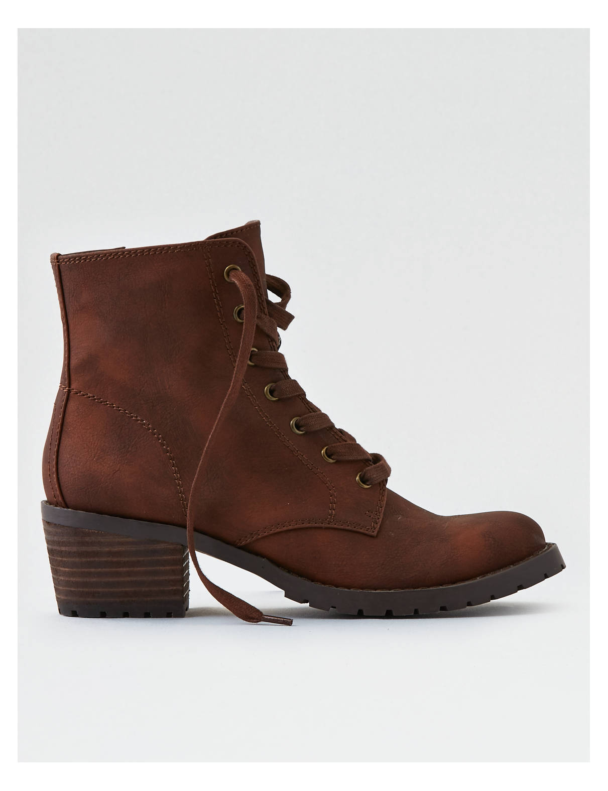 Display product reviews for AEO Lace-Up Lug Bootie
