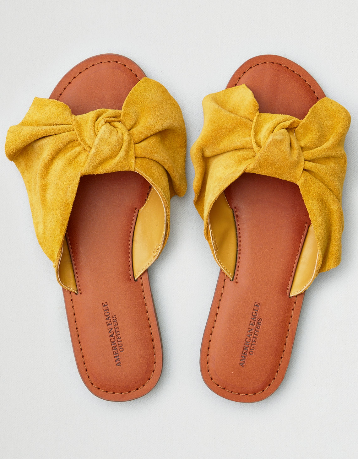 Color Slides Of New York City April 1979: AEO Oversized Bow Slide Sandal, Mustard