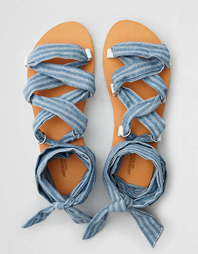 AEO Lace Up Glitter Sandal pick a best for sale free shipping clearance cheap sale best store to get pictures online lowest price for sale 11PJT72