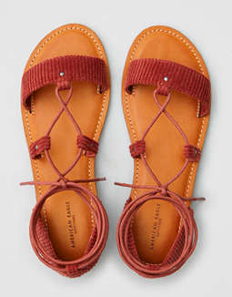 Aeo Corduroy Lace Up Sandal by American Eagle Outfitters
