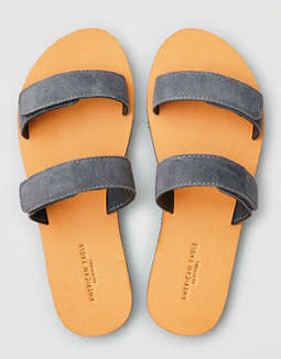 AEO Suede Double Strap Sandal
