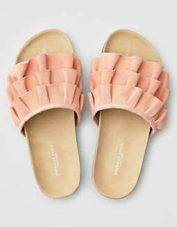 Aeo Ruffled Slide by American Eagle Outfitters