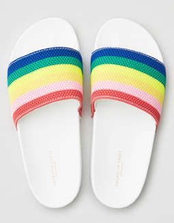 AEO Rainbow Pool Slide Sandals
