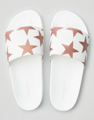 aeo-embossed-star-pool-slide by american-eagle-outfitters