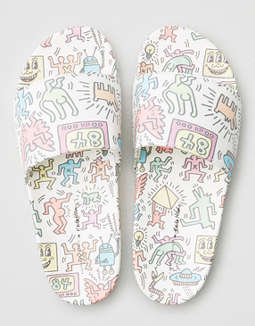 AE X Keith Haring Pool Slide Sandals