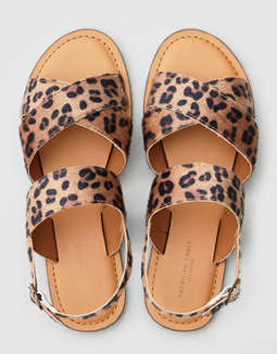 AEO Leopard 2-Piece X-Band Sandals