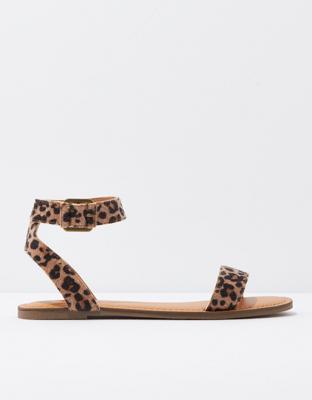 AE Leopard Ankle Strap Sandal