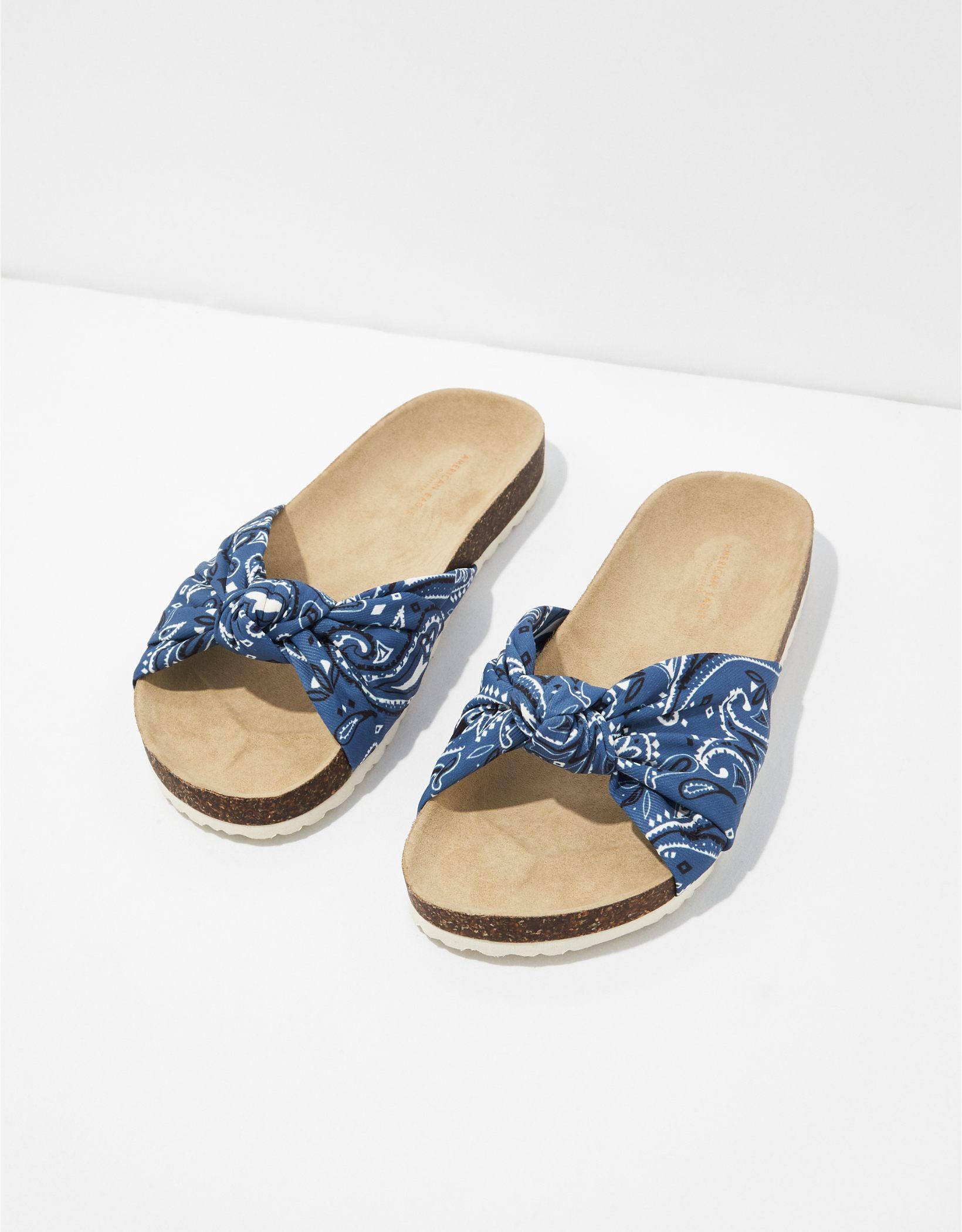 AE Knotted Bandana Slide Sandal