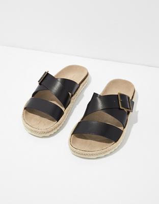 AE Strappy Espadrille Slide Sandal