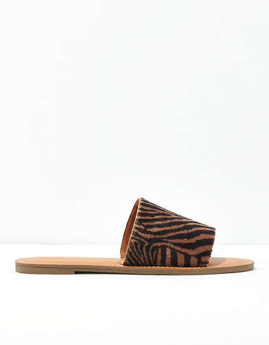 AE Animal Print Slide Sandal